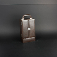 Wine Box Manufacturer faux leather wine carrier