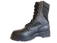 Black military jungle boots