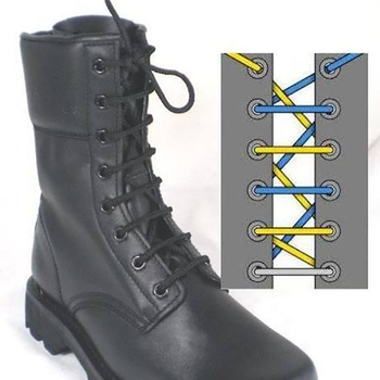 How to tie military boot laces?