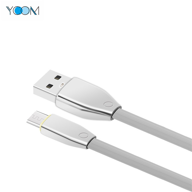 Zinc Shell USB Data Power Micro Charging Cable