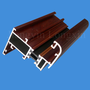 Wooden Print Aluminium casement window profiles thermal Break