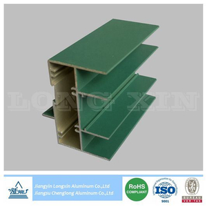Aluminium Profile for Sliding Window with Green Powder Coating