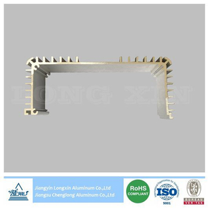 Silver Anodized Aluminium Profile for Heatsink