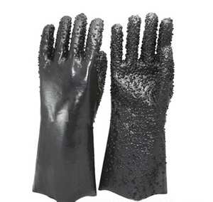 chemical PVC gloves with dots new style oil resistant