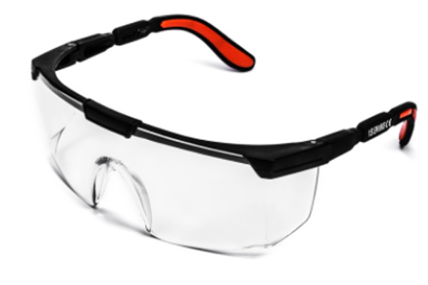 PC lens nylon/ PVC arm safety glasses for gas cutting