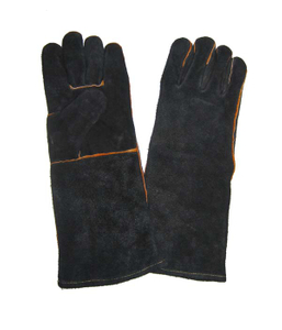 1312 black 16 inch cow split leather welding gloves