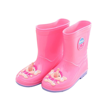 KRB-006 Colorful waterproof cute pvc rain boots for girls
