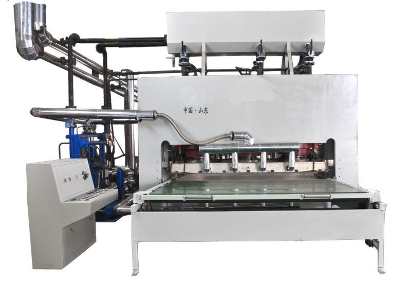 Automatic Short Cycle Melamine Hot Press Lathe for Sticking The Film Face Veneer