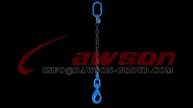 Application of Dawson Grade 100 Special Swivel Self-locking Hook with Grip Latch for Chain Slings - China Exporter