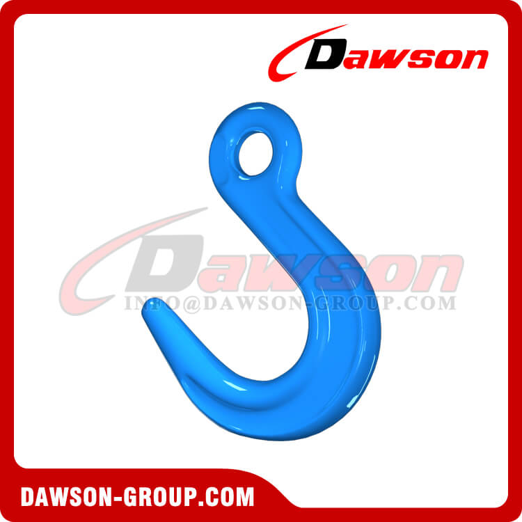 DS1074 G100 Forged Alloy Steel Eye Foundry Hook, Large Opening Hook