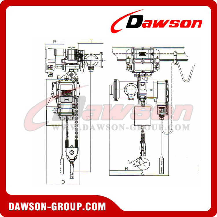 Electric Explosion-Proof chain Hoist 1-35T - Dawson Group Ltd. - China Manufacturer, Supplier, Factory, Exporter