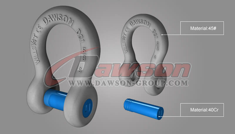 Forged Trawling Bow Shackle with Sunken Pin - China Manufacturer