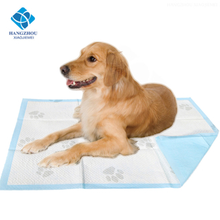 Disposable Super Absorbent Built-in Attractant Odor Control Puppy Dog Urine Toilet Training Wee Wee Pad with Adhesive Stickers