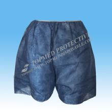 Nonwoven Disposable Examination Short Pants Boxer Dark Blue/black for Hospital