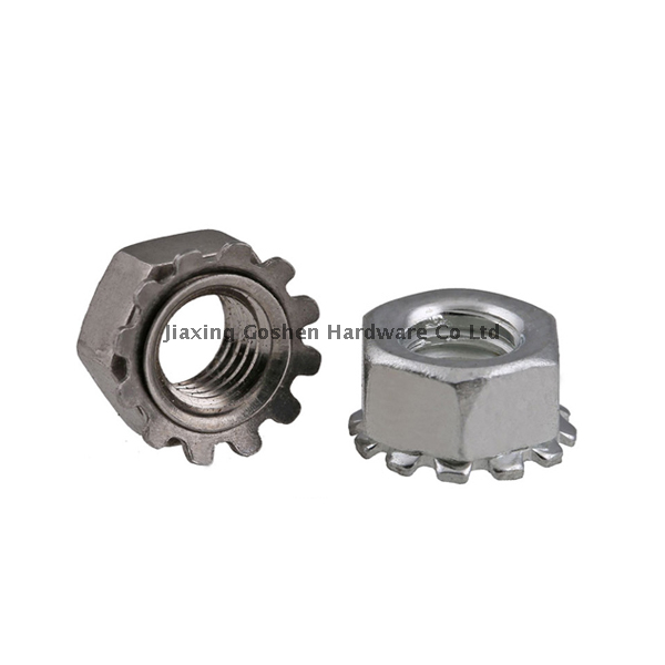 metric stainless steel hex keps lock nut fastenal from China