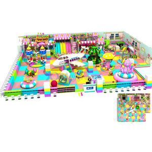 Customized Candy Themed Kids Soft Indoor Play Center with Electric Toys