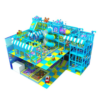 Customized Double Floor Ocean Theme Kids Indoor Soft Play Area