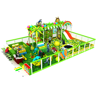 Jungle Thmed Amusement Park Soft Kids Indoor Playground Equipment with Ball Pit