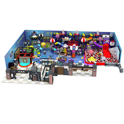 Space Themed Commercial Amusement Park Indoor Playground Equipment