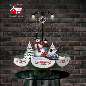 Best Selling Holiday Decoration Snowing Christmas Figures with Umbrella-shaped Base