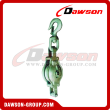 DS-B016 Malleable Iron Shell Block For Manila Rope Single Sheave With Swivel Hook