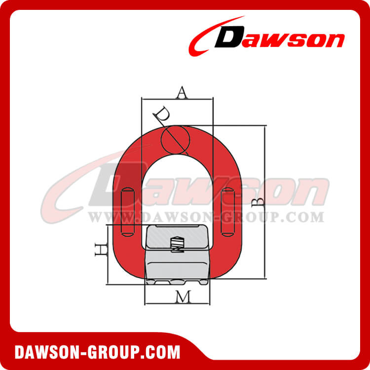DS344 G80 WELD ON PIVOTING D LINK - DAWSON-GROUP LTD. - CHINA MANUFACTURER