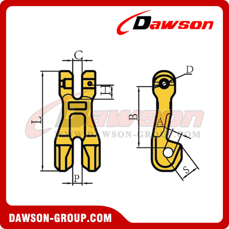 G80 / Grade 80 Clevis Chain Clutch for Adjust Chain Length