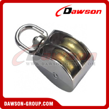 Die Cast Zinc Double Wheel Pulley with Swivel Eye