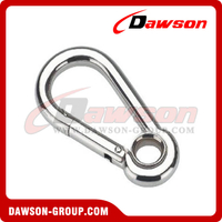 Snap Hook DIN5299A with Eyelet Zinc Plated