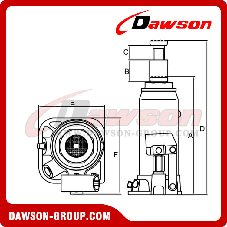 Bottle Jacks American Series DST93007 30 Ton-dawson group