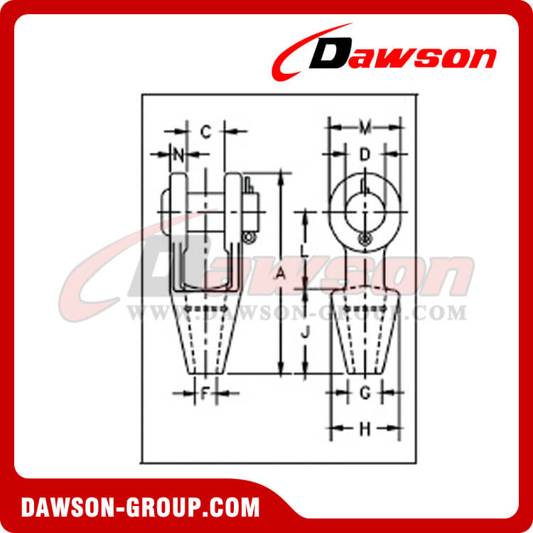 Open Spelter Sockets for Wire Rope - Dawson-Group Ltd. - China Manufacturer
