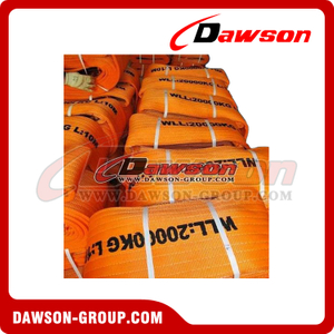 WLL 20 Ton Heavy Duty Polyester Webbing Slings - Lifting Slings