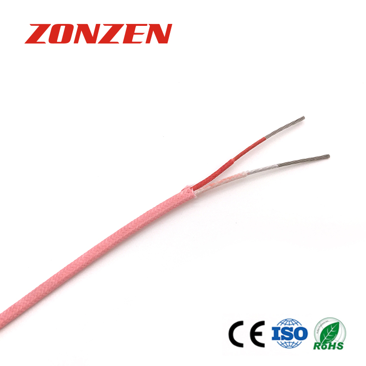 Fiberglass insulated thermocouple wire and thermocouple extension wire-- Single pair, Flat