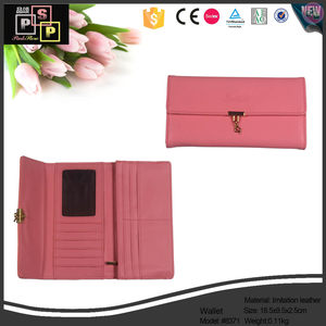 ISO,CE,SGS,Seded Red Cross Leather metal frame fashion wallet