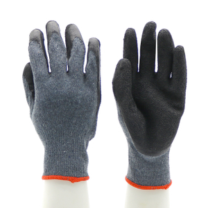 Black Oil Proof Industrial Latex Work Gloves CE EN 388