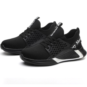 Black Light Weight Anti Slip Puncture Proof Sneakers Safety Shoes Men