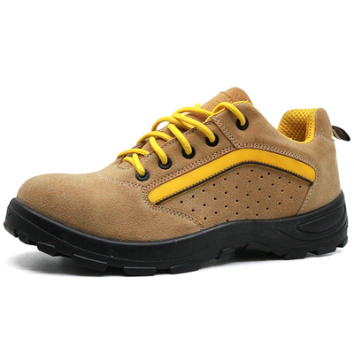 Suede Leather Puncture Proof Breathable Sport Type Safety Shoes Steel Toe