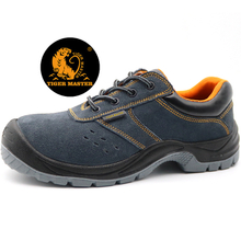 Anti Slip Suede Leather Sport Style Work Shoes Steel Toe