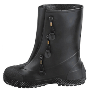 Black water proof anti slip oil resistant cross-country PVC overshoes boots