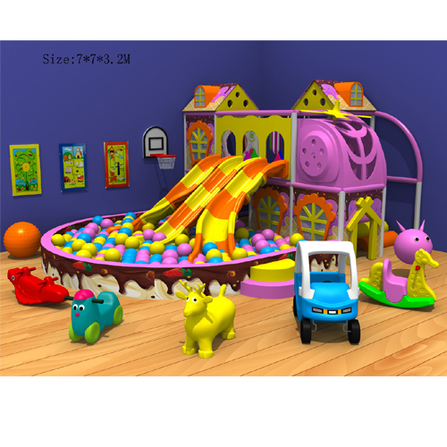 Funny Indoor Plastic Playground Slide for Kids