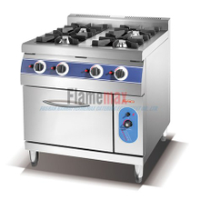 HGR-94G 4-Burner Gas Range with gas oven