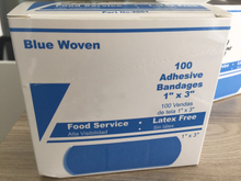 Blue Metal Band Aid Fabric for Wound Dressings 35x85