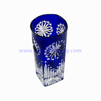 Eco-friendly dark blue drinking glass tumbler for water beverages