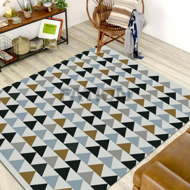 Customize Print Bath Rug Rectangle Indoor Floor Carpet