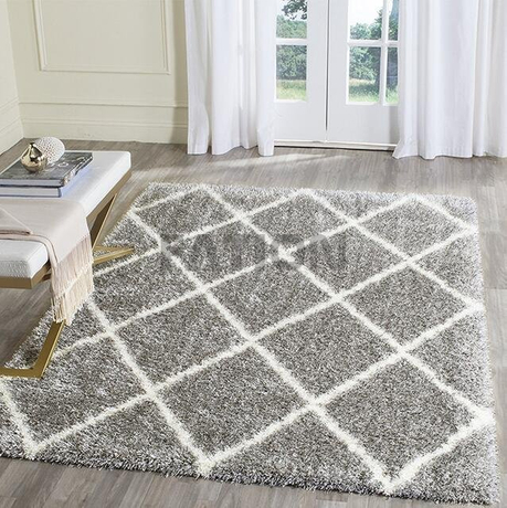 5'×8' Polyester Cozy Rug Anti-slip Shag Carpet