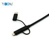 3 in 1 USB Cable for Type C, Micro and Lightning