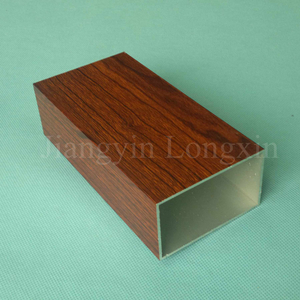 Wooden Aluminium Square Tube for Decoration