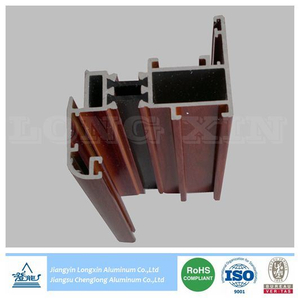 Wooden Print Aluminium Frame for Casement Windows Thermal Break