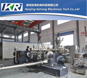 Two Stage pvc compound extruder for granulating plastic pallets making machine