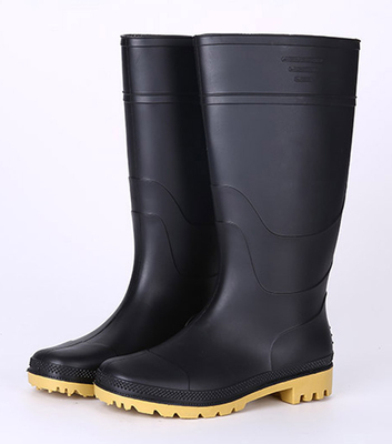 Black light weight cheap pvc rain boots